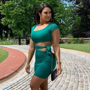 Easy As Tie Cut Out Mini Dress